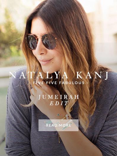Natalya Kanj wearing Monica Vinader jewellery
