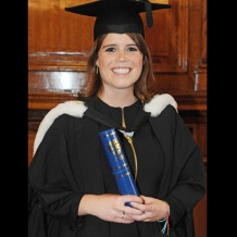 HRH Princess Eugenie attends her graduation ceremony wearing Monica Vinader Fiji Friendship bracelets, July 2012. Shop the collection online now with free delivery.