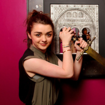 Game of Thrones star Maisie Williams wears Monica Vinader Baja and Fiji bracelet stack at the Series 3 DVD launch in London.