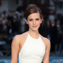 Emma Watson shines in Monica Vinader Skinny Bar Diamond rings at the London Premiere for Noah