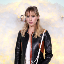 Model Suki Waterhouse weards Monica Vinader Alma Diamond Ring at the Harrods Shoe Heaven Launch event in London.