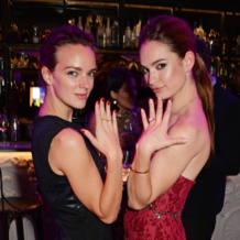 Lily James and Charlotte Caroll in Monica Vinader jewellery