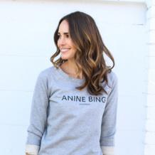 Louise Roe wears Monica Vinader Skinny Bracelet in Gold Vermiel in LA.