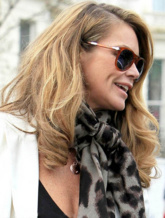 Elle Macpherson wears Monica Vinader Ava and Fiji collections whilst out and about in London, 2012.