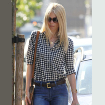 Claudia Schiffer wears Monica Vinader Ava and Nugget collections in LA, 2012.