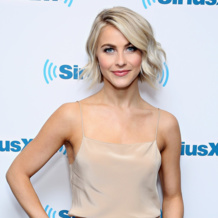 Julianne Hough wears Diva Open Circle Ring and Diva Thin Open Cuff in Rose Gold to the SiriusXM Studios in New York City, March 2015.