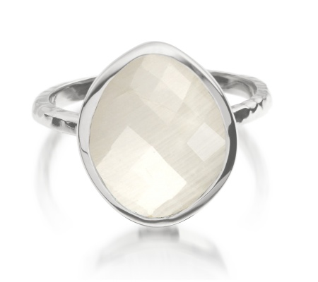 Nugget Ring Small- Moonstone - Monica Vinader