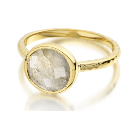 Gp Mini Luna Ring - Labradorite - Monica Vinader