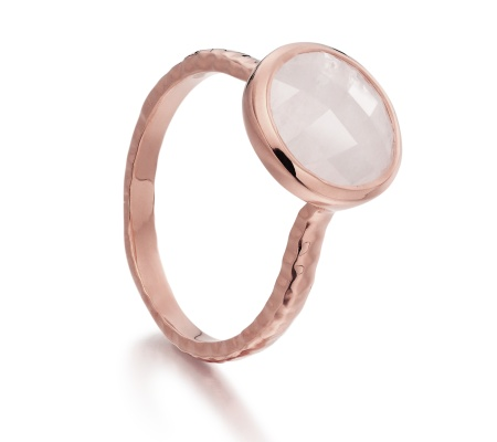 RP Mini Luna Ring - Moonstone - Monica Vinader