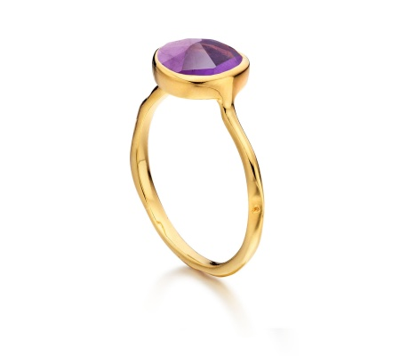 GP Siren Stacking Ring  -  Amethyst - Monica Vinader