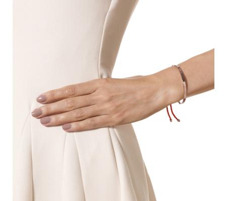 Rose Gold Vermeil Fiji Friendship Bracelet - Coral - Monica Vinader