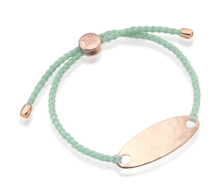 Rose Gold Vermeil Bali Friendship Bracelet - Mint - Monica Vinader