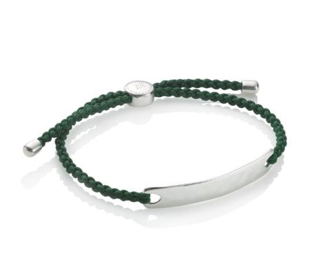 Monica Vinader Havana Men's Friendship Bracelet - Forest Green