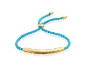 Gold Vermeil Esencia Friendship Bracelet - Turquoise - Monica Vinader