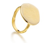 Siren Plain Engravable Ring - Monica Vinader