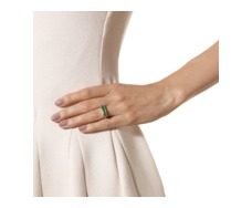Rose Gold Vermeil Baja Ring - Green Onyx - Monica Vinader