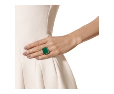 Rose Gold Vermeil Baja Square Ring - Green Onyx - Monica Vinader