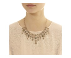 Rose Gold Vermeil Siren Bib Necklace - Labradorite - Monica Vinader