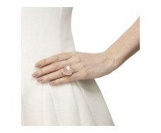 Rose Gold Vermeil Siren Cocktail Ring - Rose Quartz - Monica Vinader