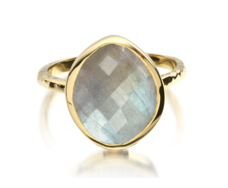 Gp Nugget Ring Small- Labradorite - Monica Vinader