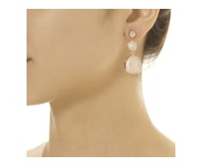 RP Siren Small Cocktail Earrings - Moonstone  - Monica Vinader