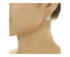 Rose Gold Vermeil  Ava Disc Drop Earrings - Diamond - Monica Vinader