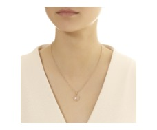 Rose Gold Vermeil Siren Medium Bezel Pendant - Rose Quartz - Monica Vinader