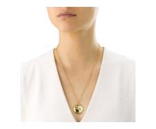 Gold Vermeil Riva Large Plain Pendant - Monica Vinader