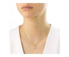 Gold Vermeil Mini Siren Bezel Pendant - Moonstone - Monica Vinader