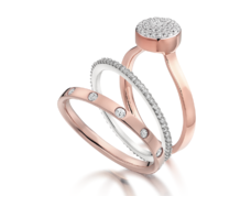 Rose Gold Vermeil Gem Ring - Diamond - Monica Vinader
