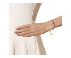 Gold Vermeil Fiji Friendship Bracelet - Nude - Monica Vinader