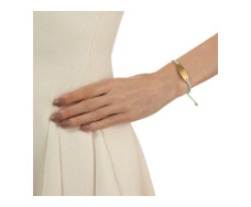 Gold Vermeil Bali Friendship Bracelet - Mint - Monica Vinader