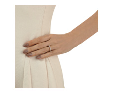 Skinny Long Bar Ring - Diamond - Monica Vinader