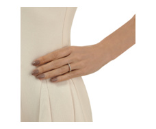 Skinny Bar Ring - Diamond - Monica Vinader