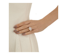 Rose Gold Vermeil Riva Diamond And Moonstone Cocktail Ring - Monica Vinader