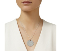 Ava Large Disc Pendant - Diamond - Monica Vinader