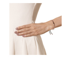 Rose Gold Vermeil Fiji Pave Friendship Bracelet - Diamond - Taupe - Monica Vinader