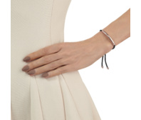 Rose Gold Vermeil Esencia Friendship Bracelet - Black Spinnell - Black - Monica Vinader