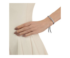 Esencia Friendship Bracelet - Black Spinnell - Black - Monica Vinader