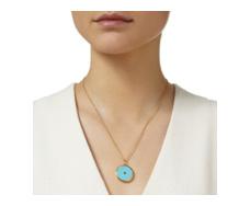 Gold Vermeil Atlantis Eye Pendant - Turquoise - Monica Vinader