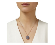 Rose Gold Vermeil Atlantis Eye Pendant - Grey Agate - Monica Vinader