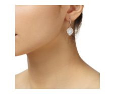 Rose Gold Vermeil Riva Moonstone Wire Earrings - Monica Vinader