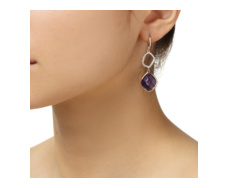 Rose Gold Vermeil Riva Diamond And Amethyst Cocktail Earrings - Monica Vinader