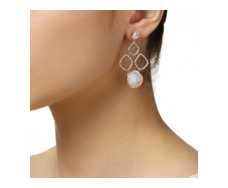Rose Gold Vermeil Riva Diamond And Moonstone Cluster Earrings - Monica Vinader