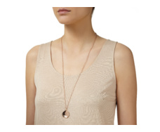 Rose Gold Vermeil Riva Large Plain Pendant - Monica Vinader