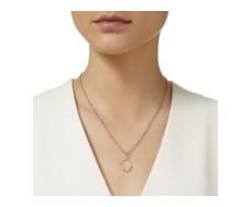 Rose Gold Vermeil Riva Diamond Hoop Pendant - Monica Vinader