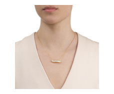 Gold Vermeil Baja Necklace - White Agate  - Monica Vinader