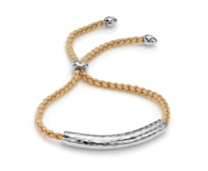 Esencia Friendship Bracelet - White Topaz - Nude - Monica Vinader