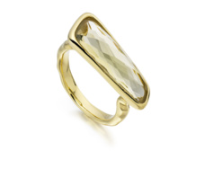 Gold Vermeil Riva Stick Ring - Monica Vinader