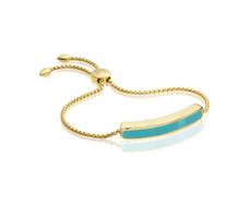 Gold Vermeil Baja Chain Bracelet - Turquoise - Monica Vinader